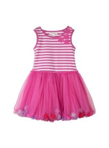 Girls bubble mesh dress