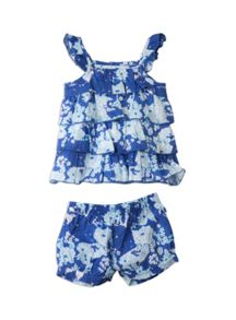 Baby girls ruffle set