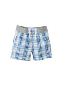 Baby boys check shorts