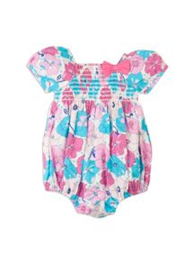 Baby girls bow shortie all in one
