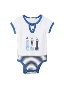Baby boys mock tee bodysuit