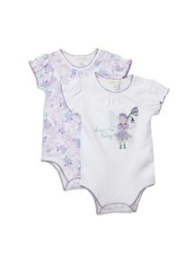 Baby girls fairy 2pk bodysuits