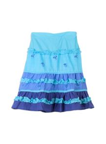 Girls printed tiered skirt