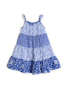 Girls multi print sundress