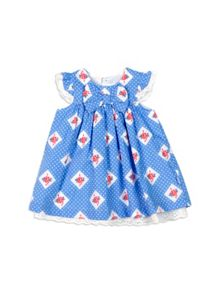 Baby Girls Spotty Bow Dress