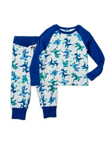 Boys Snug Fit Glowing Dragon Pjs