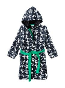 Boys Dragon Hooded Dressing Gown
