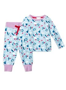 Girls Snug Fit Penguin Pjs