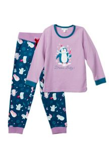 Girls Relaxed Fit Printed Pjs