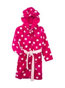 Girls Spotty Dressing Gown With Ears