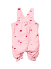 Baby Girls Baby Cord Dungarees