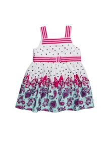 Girls border paisley print dress