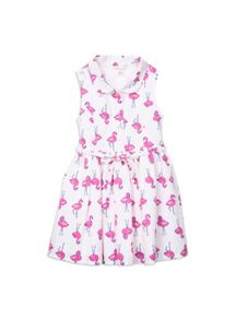Girls flamingo print dress