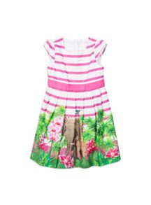 Girls elephant jungle print dress