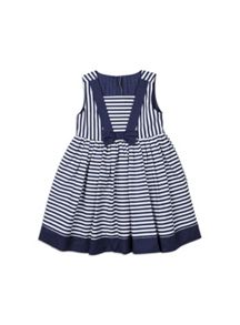 Girls stripe dress with bow