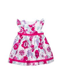 Baby girls lace trim dress with knickers