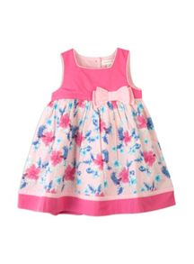 Baby girls palms print dress