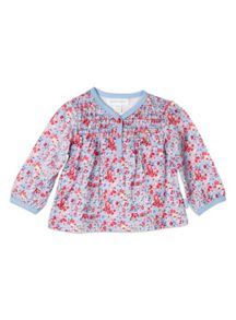 Baby Girls Mini Floral Knit Shirt