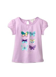 Girls anglaise butterfly print top