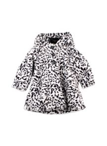 Girls Faux Fur A-Line Jacket