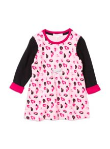 Girls Animal Print Knit Dress