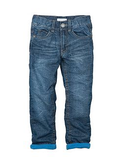 Pumpkin Patch Boys Indigo Denim Jeans W Jersey