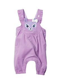 Pumpkin Patch Baby Girls Babycord Deer Dungarees