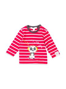 Pumpkin Patch Baby Boys Stripe Panda Top