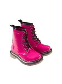 Girls Patent Punk Boot