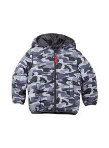 Pumpkin Patch Boys Camo Printed Padded Jacket