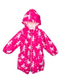 Girls Printed Long Raincoat