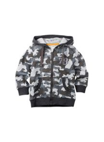 Pumpkin Patch Boys Camo Print Zip Up Sweat