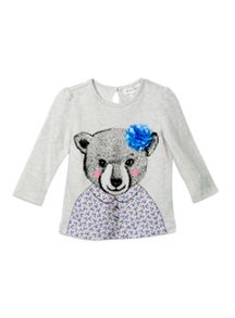 Pumpkin Patch Girls Baby Polar Bear Top