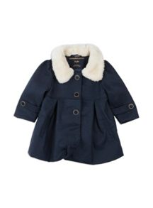 Girls Fur Collar Coat