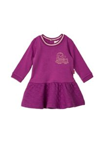 Pumpkin Patch Baby Girls Gold Tipped Rib Dress