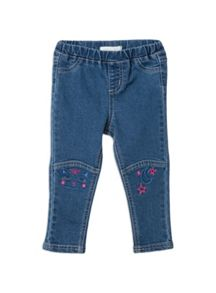 Girls Owl Panelled Jegging