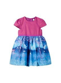 Girls Moonlight Border Print Dress