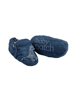 Pumpkin Patch Boys Chambray Applique Booties