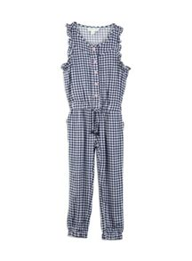 Pumpkin Patch Girls Gingham Full Length jumpsuit