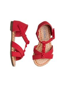 Girls Cross Over T-bar Sandal