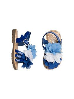 Pumpkin Patch Girls Chiffon Flower Sandal