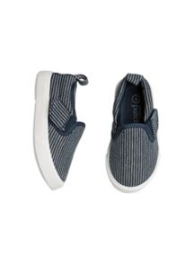 Boys Striped Slip On Shoe