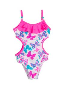 Pumpkin Patch Girls Frill Cut Out Swimsuit