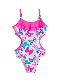 Girls Frill Cut Out Swimsuit