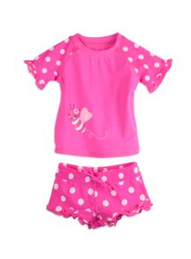 Pumpkin Patch Girls Rash Vest Set sizes 3-6m to 3