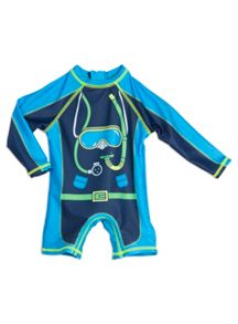 Pumpkin Patch Boys Jakes Dive Sunsuit sizes 3-6m to 5