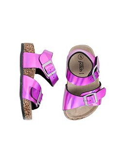 Pumpkin Patch Girls Iridescent Flexi Boho Sandal