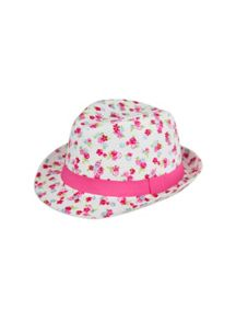 Pumpkin Patch Girls Floral Printed Fedora
