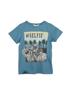 Boys Animal Selfie Tee