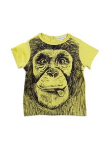 Pumpkin Patch Boys Short Sleeve Monkey Tee